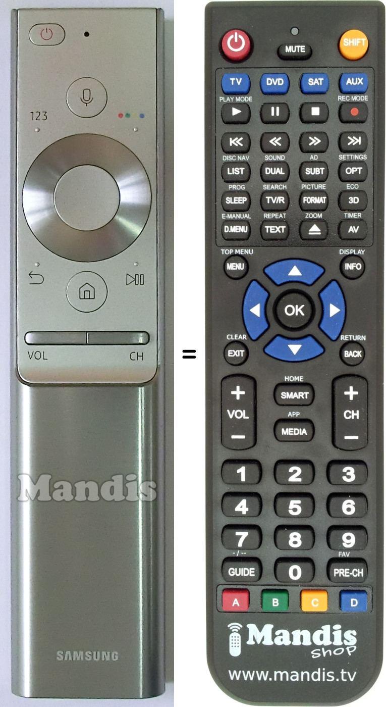 Ersatz Fernbedienung Samsung TV UE55MU6449UXZG